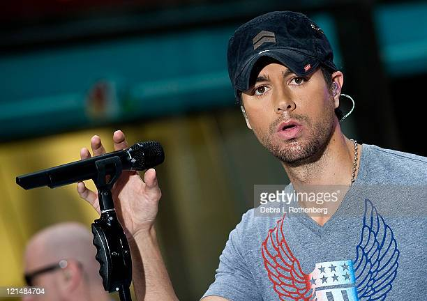 Enrique Iglesias performs on NBC's 'Today' at Rockefeller Plaza on August 19 2011 in New York City