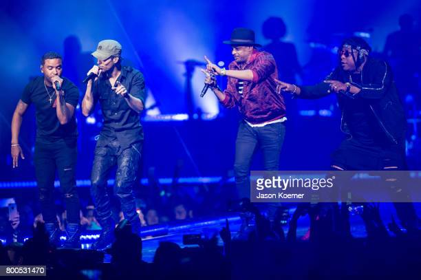 Enrique Iglesias performs on stage at American Airlines Arena on June 23 2017 in Miami Florida