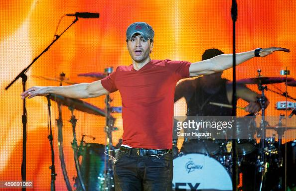 Enrique Iglesias performs on stage at O2 Arena on November 28 2014 in London United Kingdom