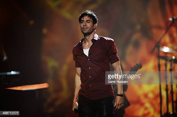 GLASGOW SCOTLAND NOVEMBER Enrique Iglesias performs on stage during the MTV EMA's 2014 at The Hydro on November 9 2014 in Glasgow Scotland