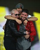 Enrique Iglesias Pitbull and JBalvin perform on February 21 2015 at Target Center in Minneapolis Minnesota
