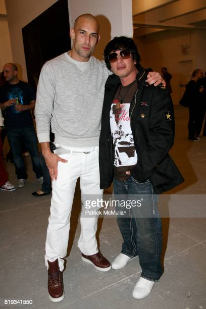 Enrique Miron and Harold Palacios attend 'The Transformation of ENRIQUE MIRON as El Diablo' by PAUL ROWLAND at 548 W 22nd St on April 29 2010 in New...