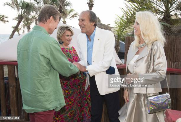 Enrique of Luxemburgo Maria Teresa of Luxemburgo Luis Ortiz and Gunilla Von Bismark from The Grand Ducal Family of Luxembourg are seen having dinner...