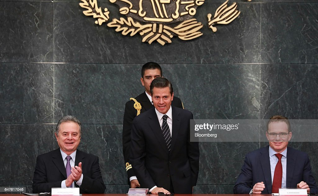 President Pena Nieto Attends Signing Ceremony As BHP Billiton Becomes Pemex's First Deep-Water Oil Partner