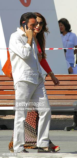Enrique Ponce and Paloma Cuevas are seen on June 12 2014 in Madrid Spain