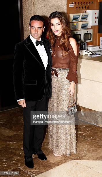 Enrique Ponce and Paloma Cuevas attend a dinner in honour of 'Mariano de Cavia' 'Mingote' and 'Luca de Tena' awards winners on December 13 2016 in...