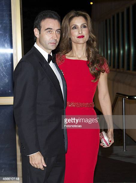 Enrique Ponce and Paloma Cuevas attend a dinner in honour of the 'Mariano de Cavia' 'Luca de Tena' and 'Mingote' awards winners at Casa de ABC on...