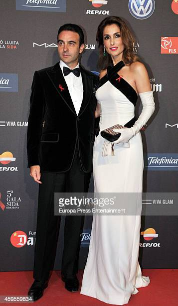 Enrique Ponce and Paloma Cuevas attend 'Fifth Gala Against HIV 2014' on November 24 2014 in Barcelona Spain