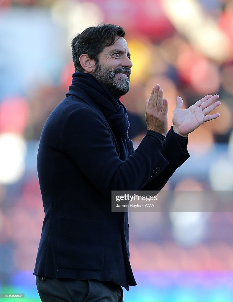 Enrique Sanchez Flores head coach of Watford during the Barclays Premier League match between Stoke City and Watford at Britannia Stadium on October 24, 2015 in Stoke on Trent, England.