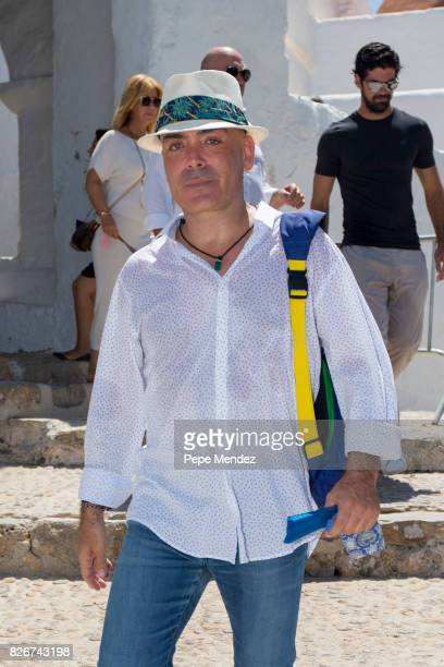 Enrique Sarasola attends the Mass Funeral for Angel Nieto at Parroquia de Santa Eularia on August 5 2017 in Ibiza Spain