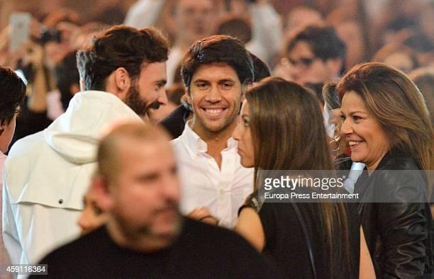 Enrique Solis Fernando Verdasco Ana Boyer and Nuria Fernandez attend Enrique Iglesias concert on November 15 2014 in Madrid Spain