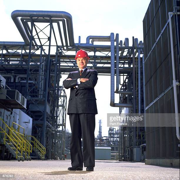 Enron CEO Ken Lay poses for portraits at a pipeline facility in Feburary 1993 in Houston TX Enron filed for Chapter 11 protection December 3 2001 and...
