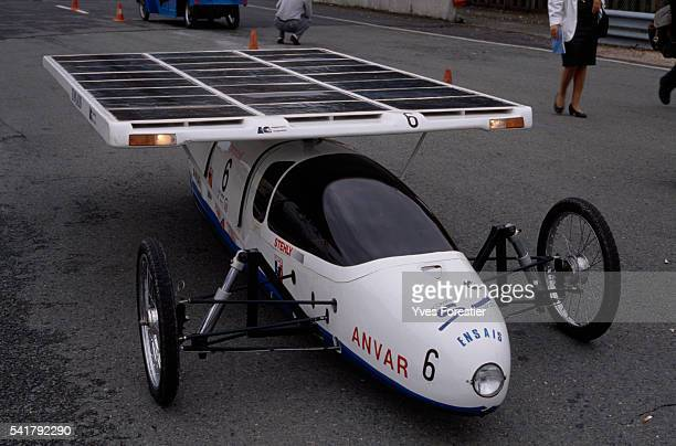 L'Ensais solar vehicle presented at the Voitures Generation Pur exhibition