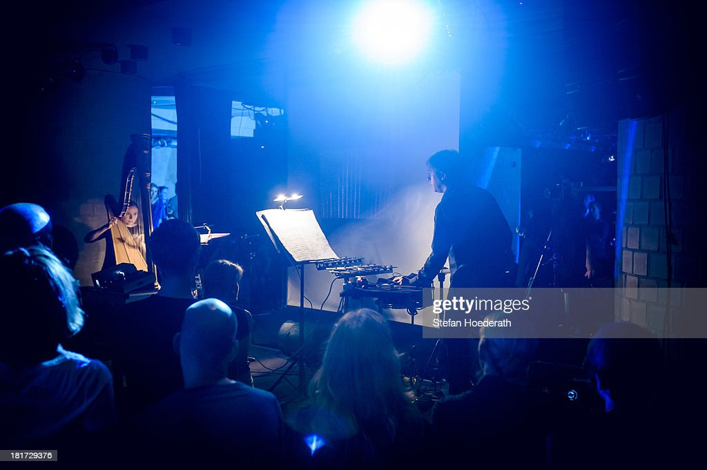 Ensemble Adapter perform live during a Yellow Lounge organized by recording label Deutsche Grammophon at Asphalt nightclub on September 03, 2013 in Berlin, Germany.