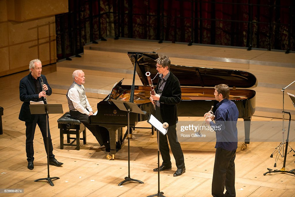 Ensemble Modern perform at Royal Conservatoire of Scotland on May 6, 2016 in Glasgow, Scotland.