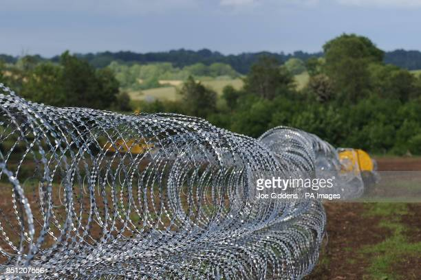 Entanglement wire around Lough Erne and the surrounding area ahead of the G8 Summit PRESS ASSOCIATION Photo Picture date Saturday June 15 2013 See PA...