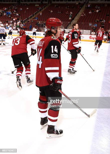 <<enter caption here>> at Gila River Arena on March 29 2017 in Glendale Arizona