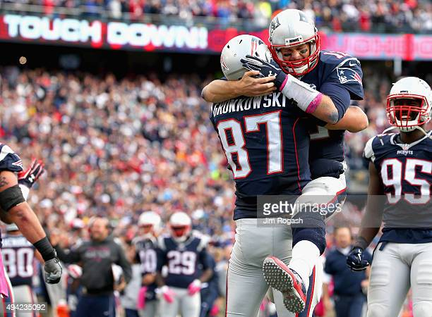 <<enter caption here>> of the New England Patriots of the New York Jets at Gillette Stadium on October 25 2015 in Foxboro Massachusetts