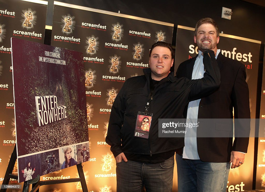 'Enter Nowhere' Director Jack Heller (L) and Producer Dallas Sonnier attend the 'Enter Nowhere' Premiere during Screamfest 2011 at Mann Chinese 6 on October 20, 2011 in Los Angeles, California.