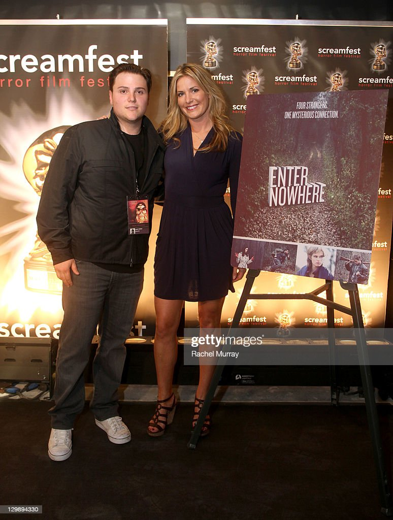 'Enter Nowhere' Director Jack Heller (L) and producer Megan McClelland attend the 'Enter Nowhere' Premiere during Screamfest 2011 at Mann Chinese 6 on October 20, 2011 in Los Angeles, California.