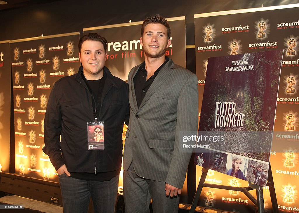 'Enter Nowhere' Director/Producer Jack Heller (L) and actor Scott Eastwood attend the 'Enter Nowhere' Premiere during Screamfest 2011 at Mann Chinese 6 on October 20, 2011 in Los Angeles, California.