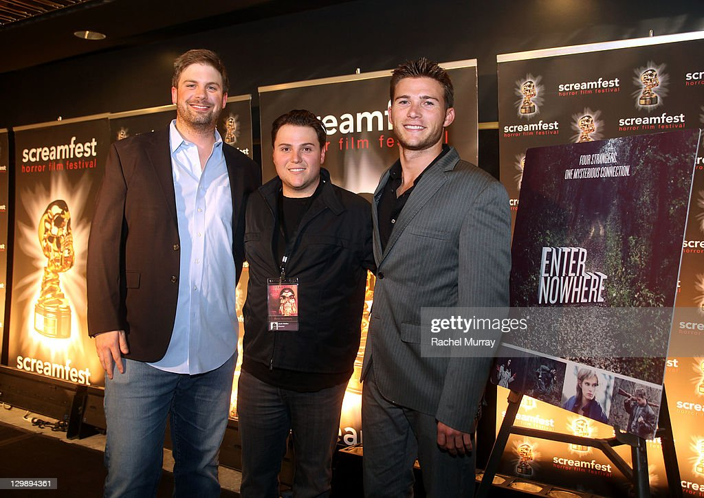 'Enter Nowhere' Producer Dallas Sonnier, director Jack Heller and actor Scott Eastwood attend the 'Enter Nowhere' Premiere during Screamfest 2011 at Mann Chinese 6 on October 20, 2011 in Los Angeles, California.