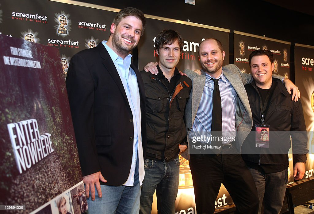 'Enter Nowhere' Producer Dallas Sonnier, writers Shawn Christensen, Jason Dolan, and director Jack Heller attend the 'Enter Nowhere' Premiere during Screamfest 2011 at Mann Chinese 6 on October 20, 2011 in Los Angeles, California.