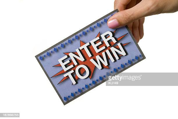 Enter to Win ticket on white background