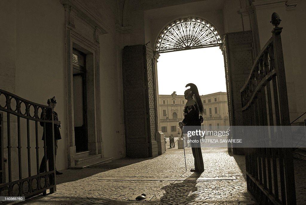 Enterance of Quirinal Palace : Stock Photo