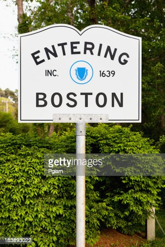 Entering Boston highway marker