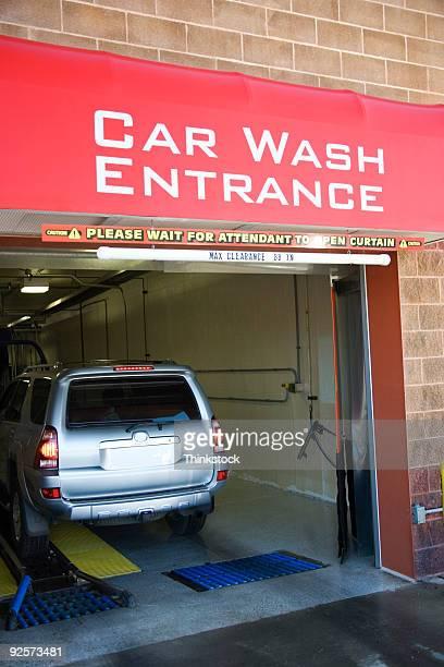 SUV entering car wash