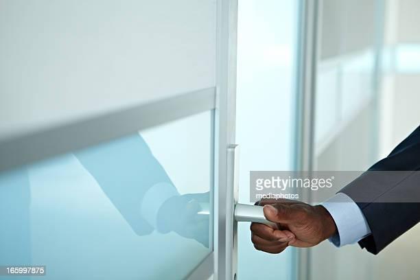 Betreten der Büro