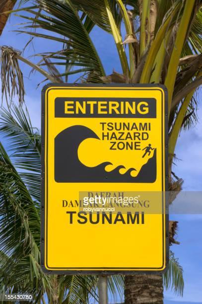 tsunami de pénétrer dans la zone de danger