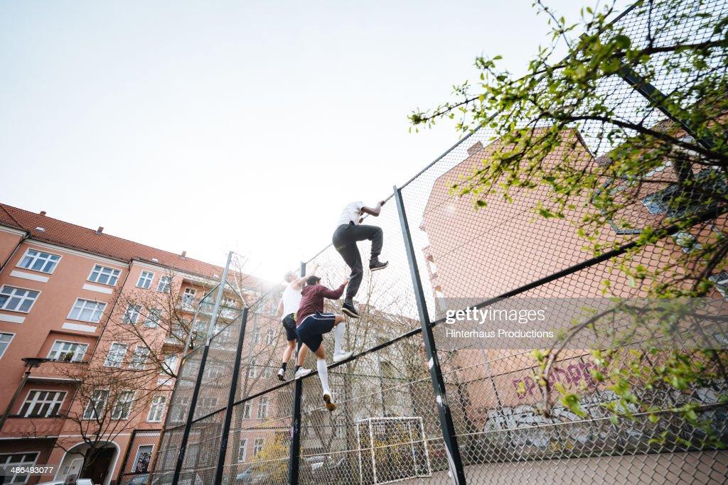 Entering Urban Soccer Place