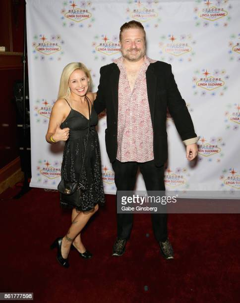 Entertainer Alli Salcedo and comedian Tommy Savitt attend the debut of 'Linda Suzanne Sings Divas of Pop' at the South Point Hotel Casino on October...