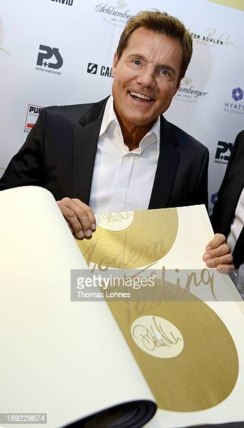 Entertainer and Singer Dieter Bohlen presents his wallpaper collection 'Dieter Bohlen it's different' at 'Heimtextil 2013' on January 10 2013 in...