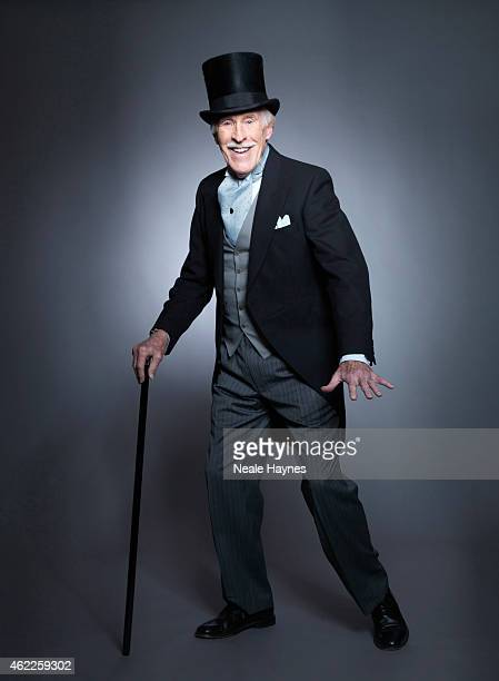 Entertainer and tv presenter Bruce Forsyth is photographed for the Daily Mail on December 8 2014 in London England