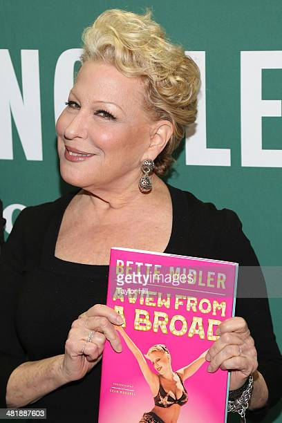 Entertainer Bette Midler attends Bette Midler In Conversation With Judy Gold at Barnes Noble Union Square on April 1 2014 in New York City