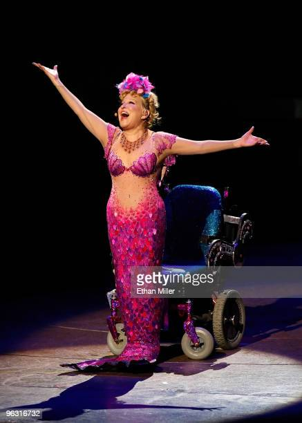 Entertainer Bette Midler performs during the final performance of her show 'The Showgirl Must Go On' at The Colosseum at Caesars Palace January 31...