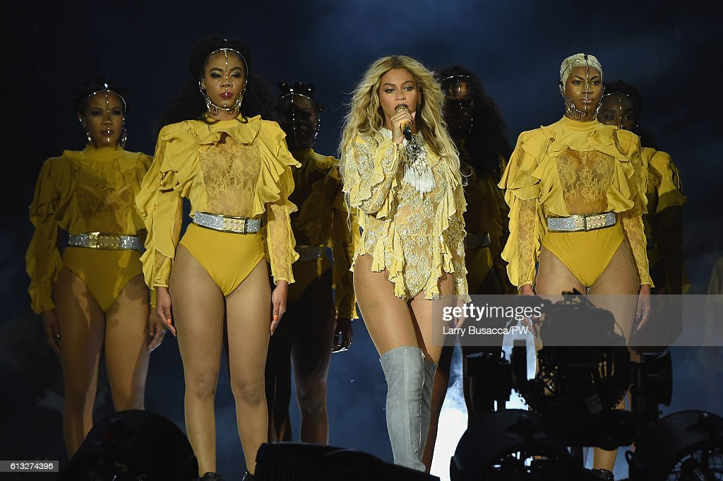 """Queen Bee's music champions female empowerment and intersectional feminism. Her latest music video 'Formation' celebrates the unique experience of being a black woman in America. """"We have to teach our boys the rules of equality and respect, so that as they grow up gender equality becomes a natural way of life. And we have to teach our girls that they can reach as high as humanly possible."""""""
