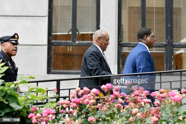 Entertainer Bill Cosby arrives at Montgomery Courthouse for the fifth day of jury deliberations in the aggravated indecent assault trail in...