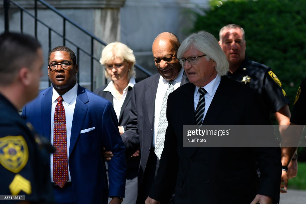 US entertainer Bill Cosby departs after a pre-trial hearing at Montgomery County Courthouse, in Norristown, on August 22, 2017.