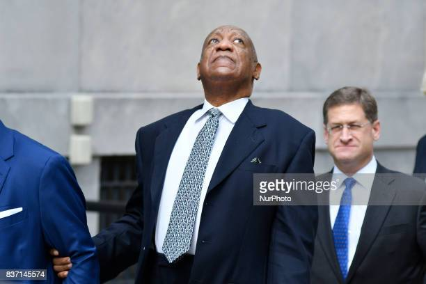 US entertainer Bill Cosby departs after a pretrial hearing at Montgomery County Courthouse in Norristown on August 22 2017