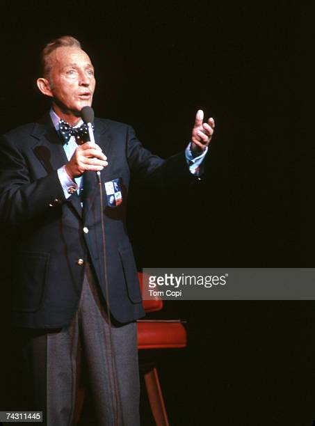 Entertainer Bing Crosby performs onstage in circa 1969