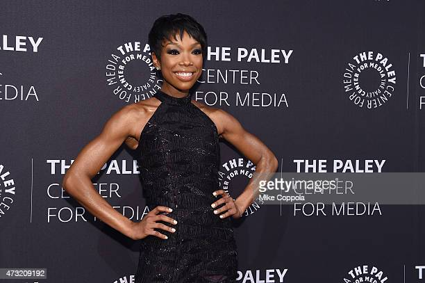 Entertainer Brandy Norwood attends A Tribute To AfricanAmerican Achievements In Television hosted by The Paley Center For Media at Cipriani Wall...