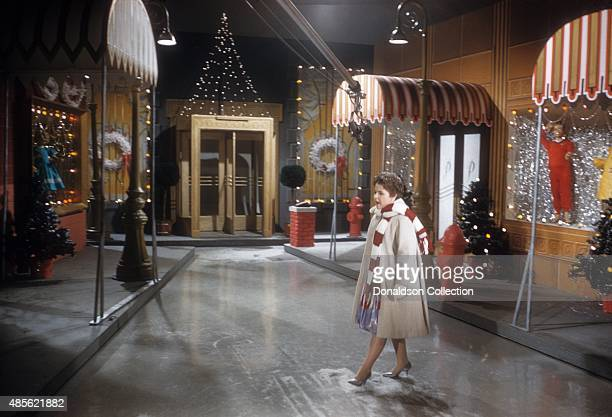 Entertainer Brenda Lee on the TV show 'Perry Como's Kraft Music Hall' in New York