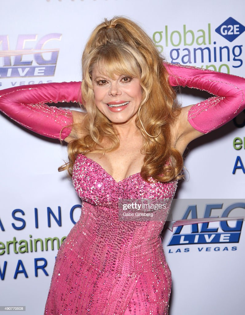 Entertainer Charo attends Global Gaming Expo's Casino Entertainment Awards at Vinyl inside the Hard Rock Hotel Casino on September 30 2015 in Las...