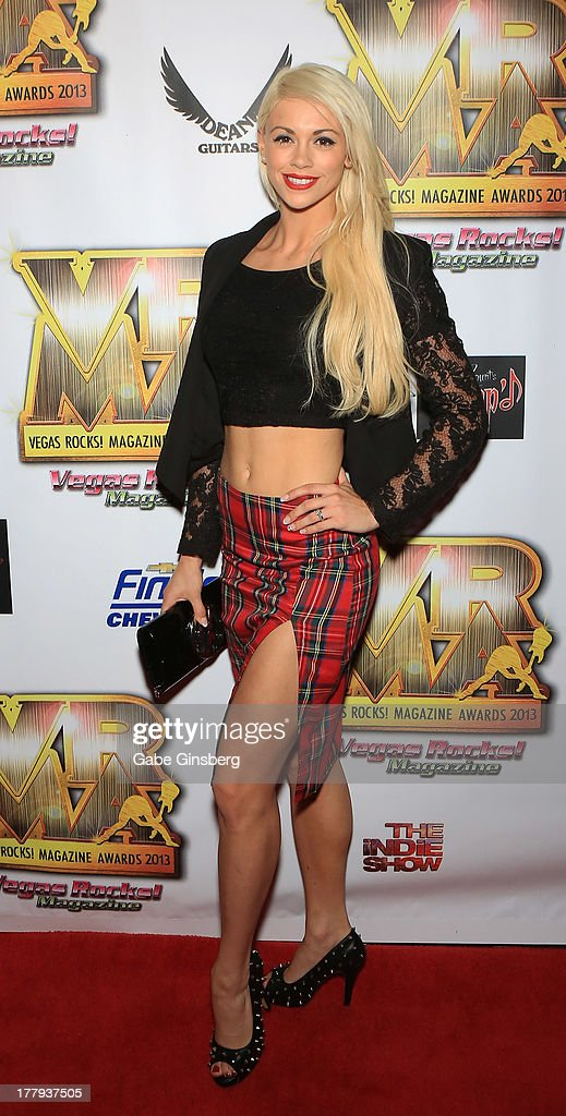 Entertainer Chloe Louise Crawford arrives at the 2013 Vegas Rocks! magazine music awards at The Joint inside the Hard Rock Hotel & Casino on August 25, 2013 in Las Vegas, Nevada.