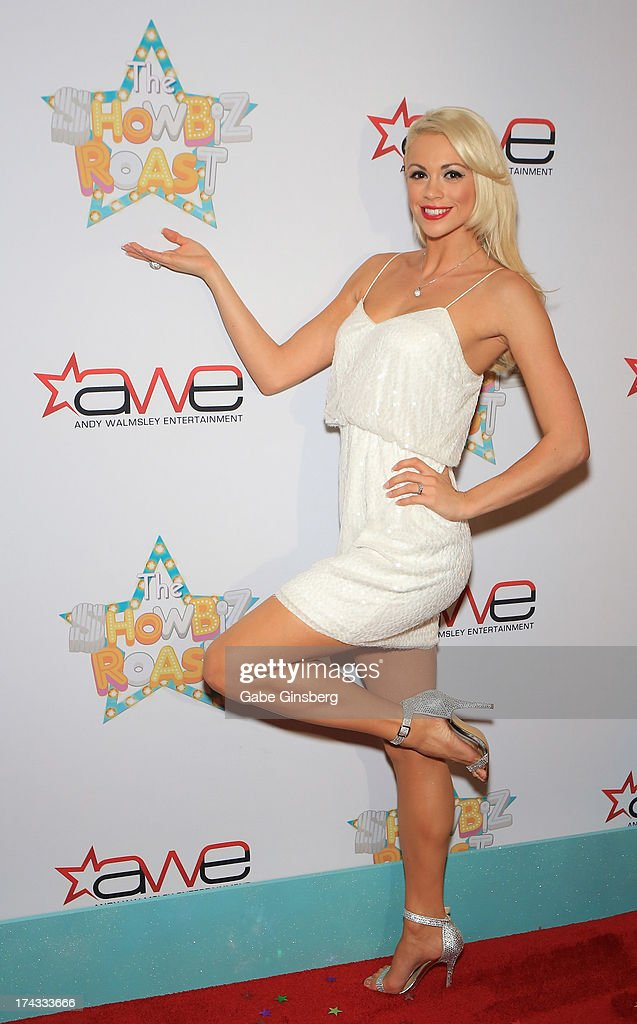Entertainer Chloe Louise Crawford arrives at the 'Showbiz Roast of Oscar Goodman' at the Stratosphere Casino Hotel on July 23, 2013 in Las Vegas, Nevada.