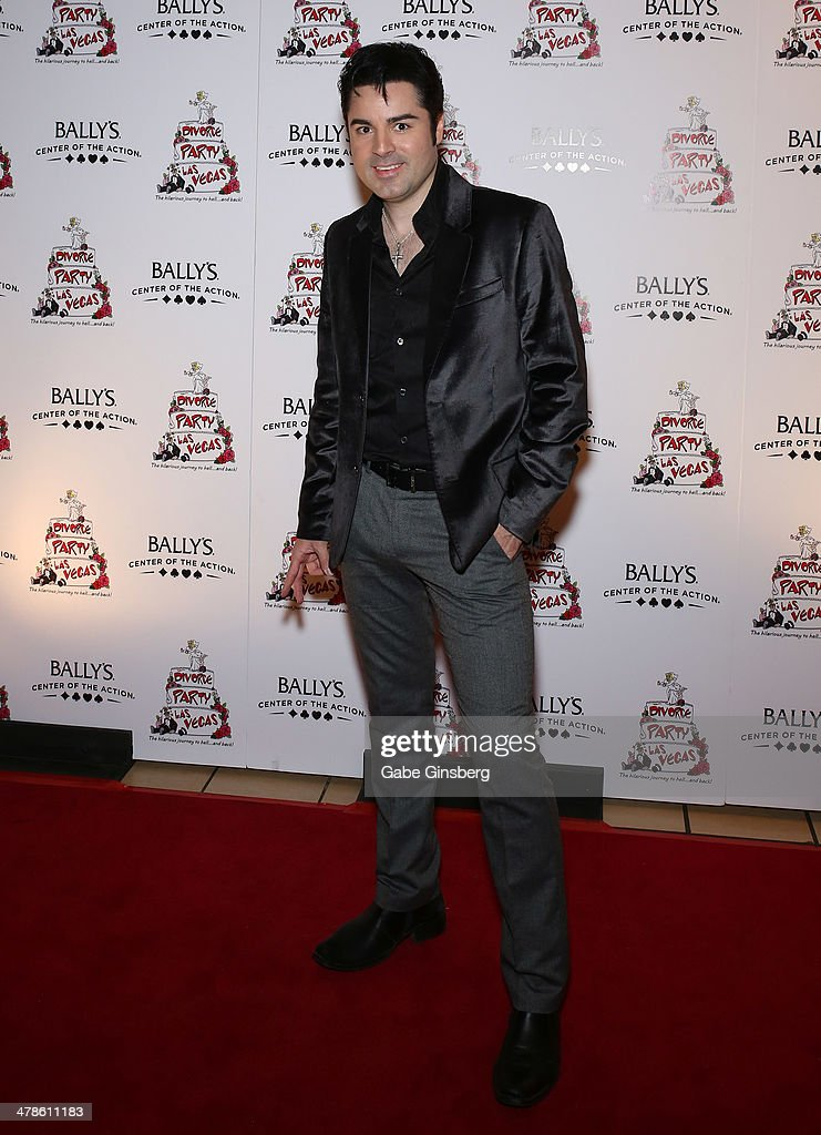 Entertainer Cole from the show 'Million Dollar Quartet' arrives at the Las Vegas premiere of 'Divorce Party' at the Windows Showroom at Bally's Las Vegas on March 13, 2014 in Las Vegas, Nevada.